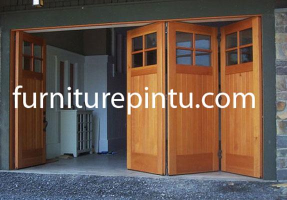 Pintu Garasi Natural Jati