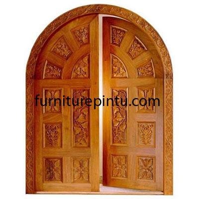 Pintu Ukir Motif Anggur Mewah