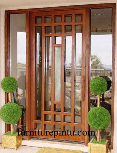 Daun Pintu Kaca Ram Minimalis