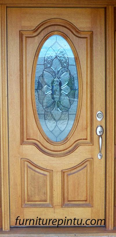 Daun Pintu Kaca Motif Kupu-kupu
