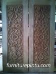 Daun Pintu Ukir Motif Bunga Matahari Order Ibu Nia Bogor