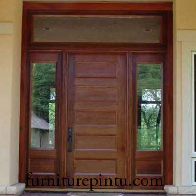 Pintu Minimalis Kombinasi Jendela Gendong