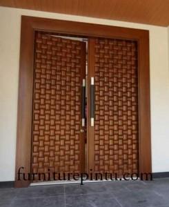 Pintu Ukir Kupu Tarung Ukir Sulam Terbaru