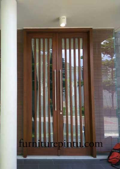Pintu Rumah Minimalis Ram Kaca